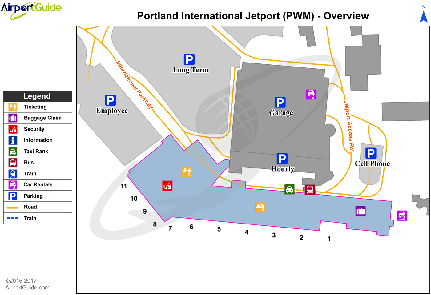 Portland Airport Car Rental: Portland International Jetport (PWM) Airport