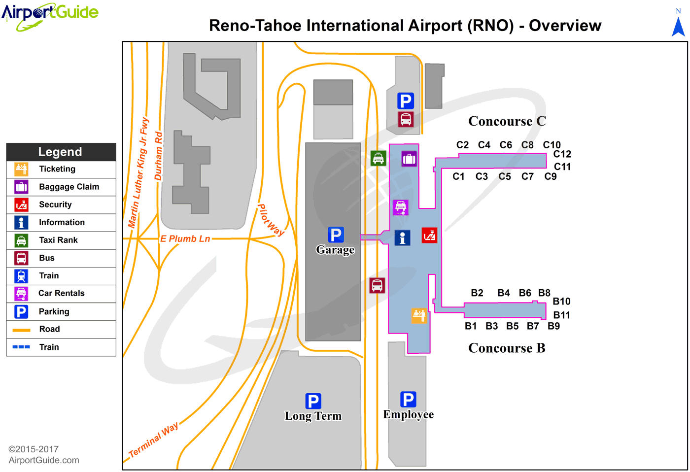 Car Rental Reno Airport: Reno/Tahoe International (RNO) Airport Terminal