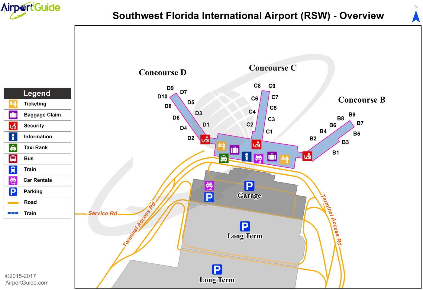 Rsw Airport Map Fort Myers   Southwest Florida International (RSW) Airport  Rsw Airport Map