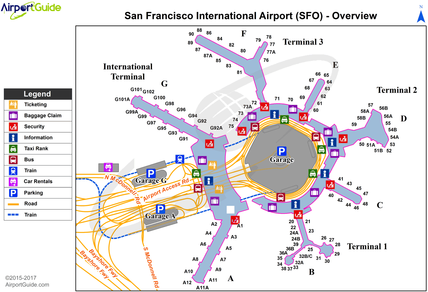 Map Of Sfo San Francisco   San Francisco International (SFO) Airport Terminal