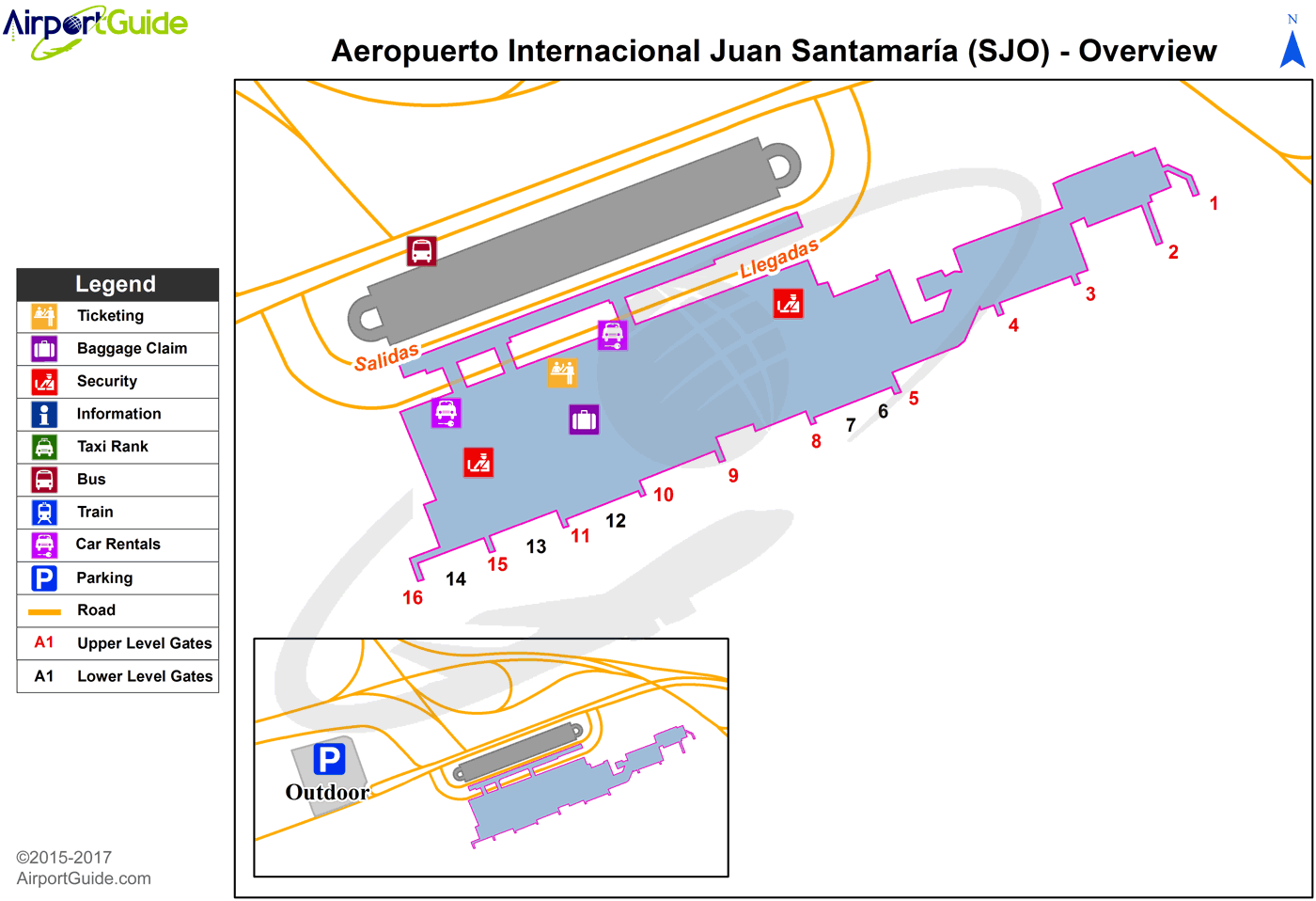 Juan Santamaria Airport Map San Jose   Juan Santamaria International (SJO) Airport Terminal  Juan Santamaria Airport Map