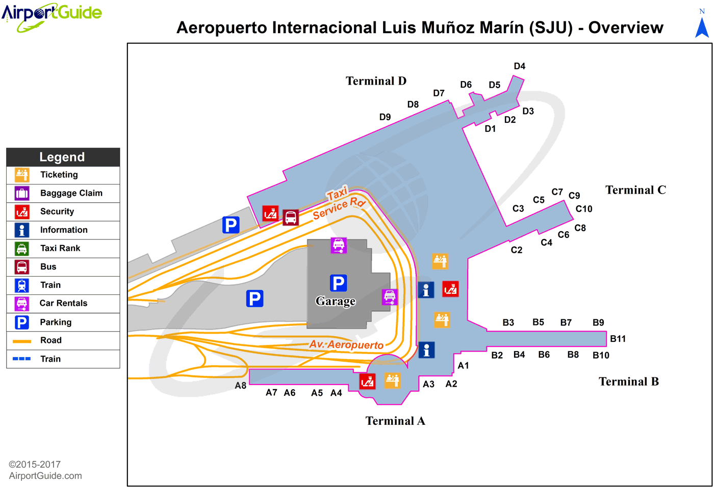 San Juan Airport Map San Juan   Luis Munoz Marin International (SJU) Airport Terminal