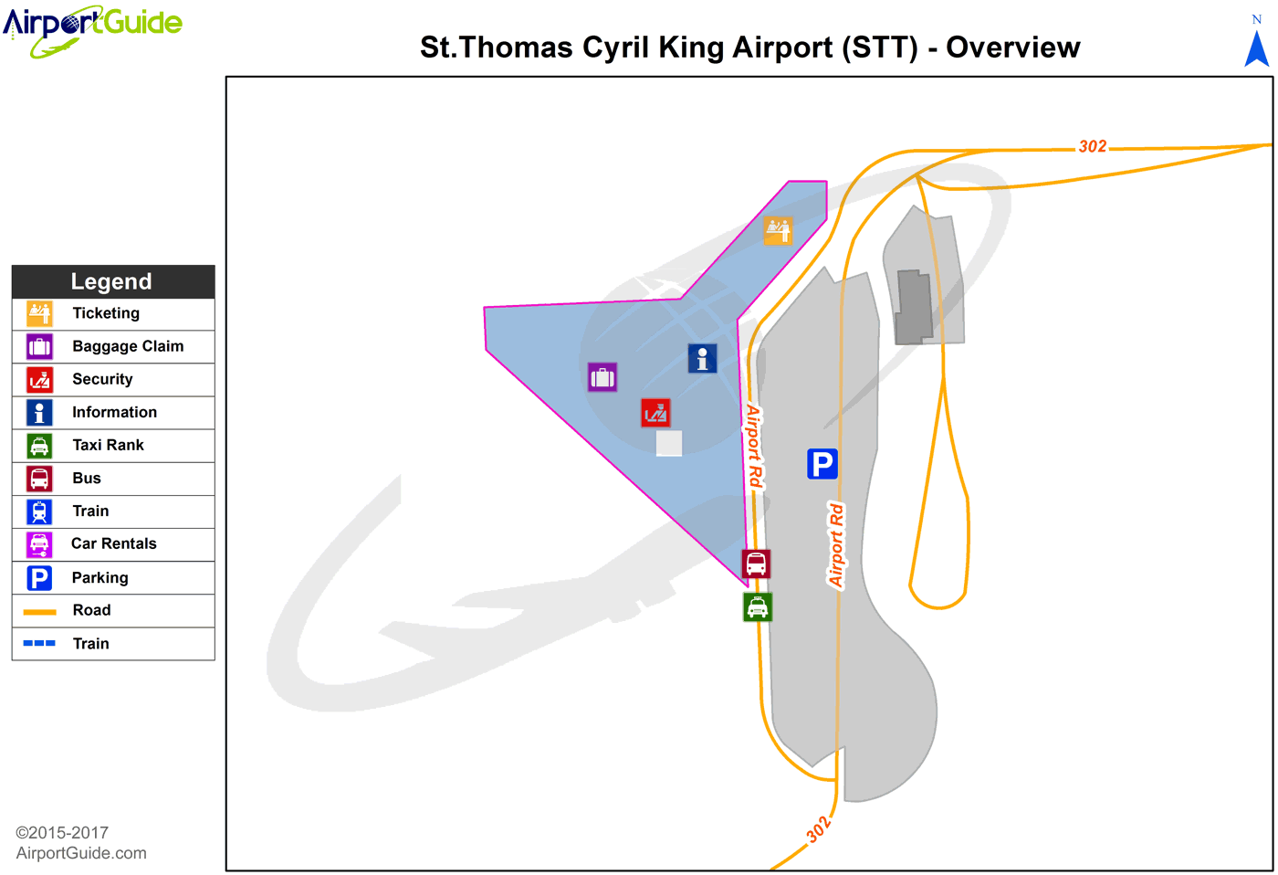 on charlotte airport terminal map