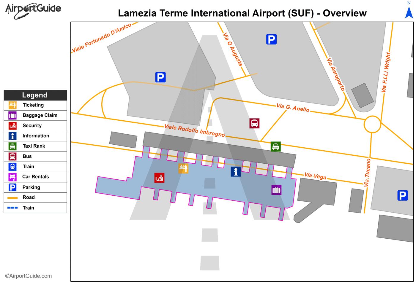 Lamezia Terme Lamezia Terme SUF Airport Terminal Maps