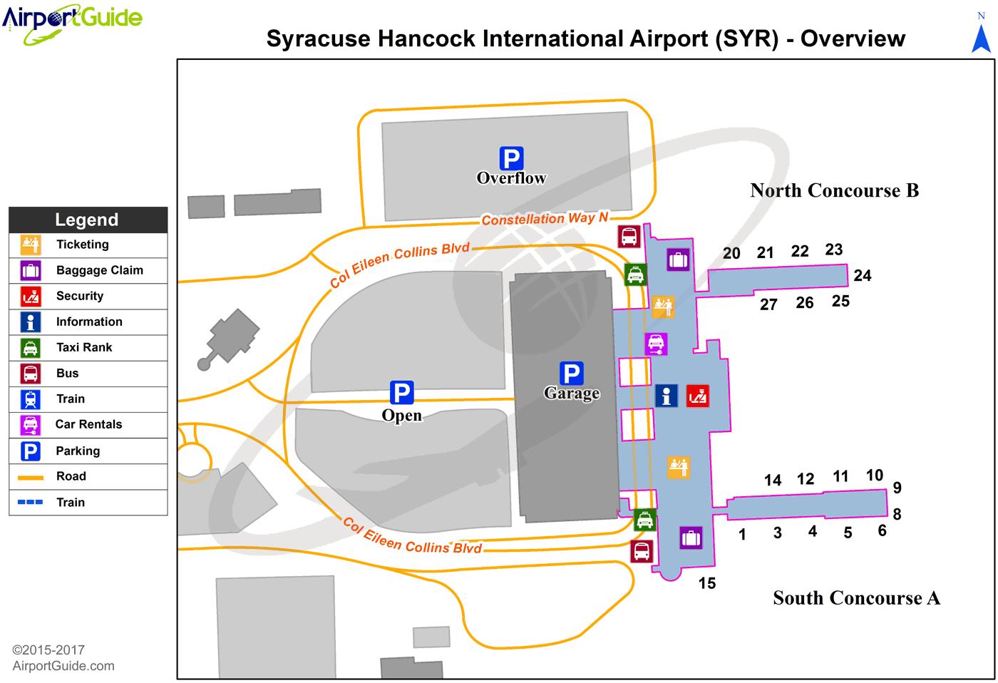 Syracuse Airport Map Syracuse   Syracuse Hancock International (SYR) Airport Terminal