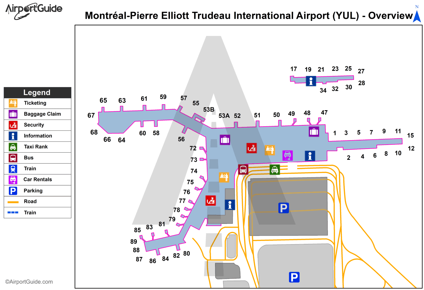 Montreal Airport Map Montreal   Montreal / Pierre Elliott Trudeau International (YUL