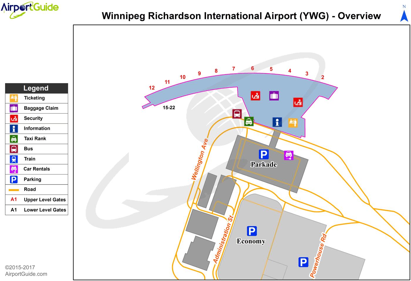 Winnipeg Airport Terminal Map Winnipeg   Winnipeg / James Armstrong Richardson International